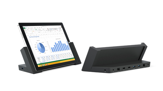Surface Pro 3 Docking Station convierte tu tablet en un 3 en 1