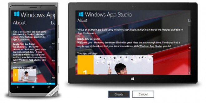 Windows App Studio Beta se actualiza con nuevas e importantes características