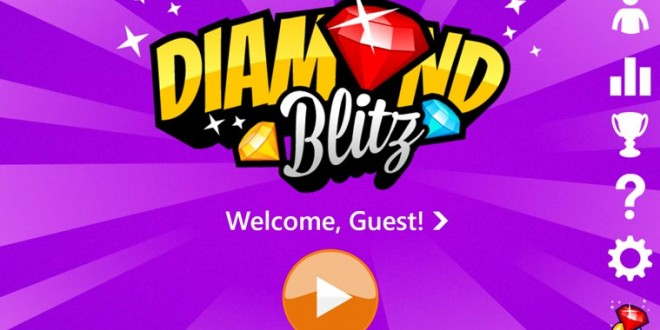 Compite con tus amigos con Diamond Blitz para Windows Phone