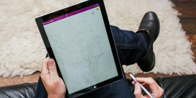 La Surface Pro 3 se actualiza para mejorar el rendimiento de su lápiz táctil.