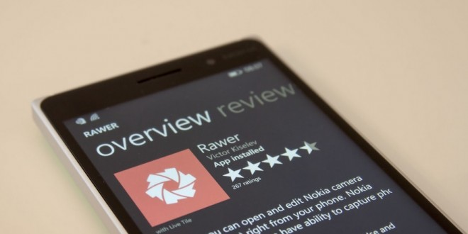 Rawer: la app que te permite editar en Raw desde tu Windows Phone