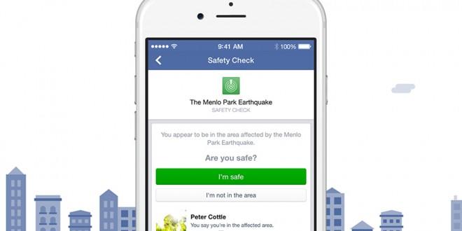 Safety Check de Facebook le dice a tus amigos que estás a salvo en una catástrofe