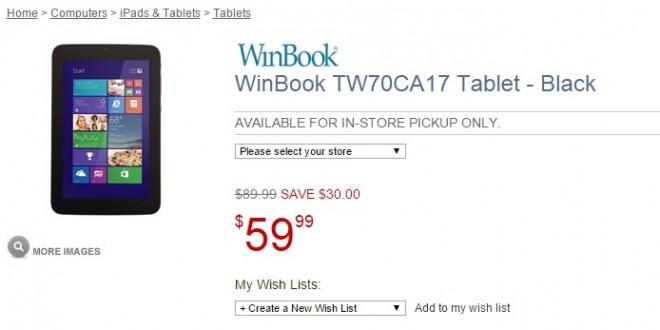 Winbook pone patas arriba el mercado con su tablet de 7 pulgadas por menos de 60 dólares