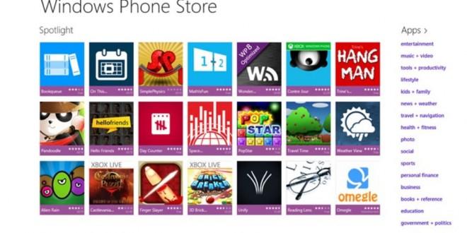 Windows Phone se estanca pero no así su Store. Ya son más de 560.000 las aplicaciones de la plataforma norteamericana