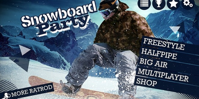 Sube tu adrenalina con Snowboard Party para Windows Phone