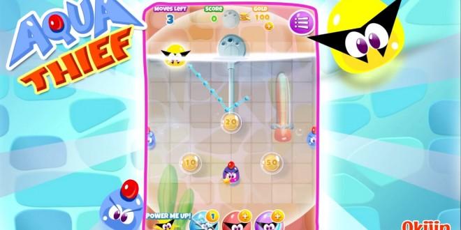 Roba el tesoro bajo el agua con el nuevo y divertido puzzle game Aqua Thief para Windows Phone