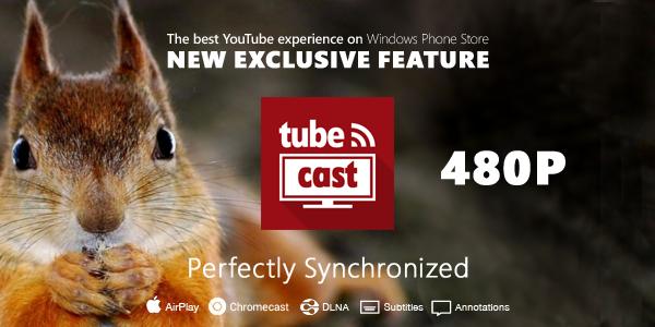 La última actualización de Tubecast trae los 480p, descarga de audio en HD y otras novedades